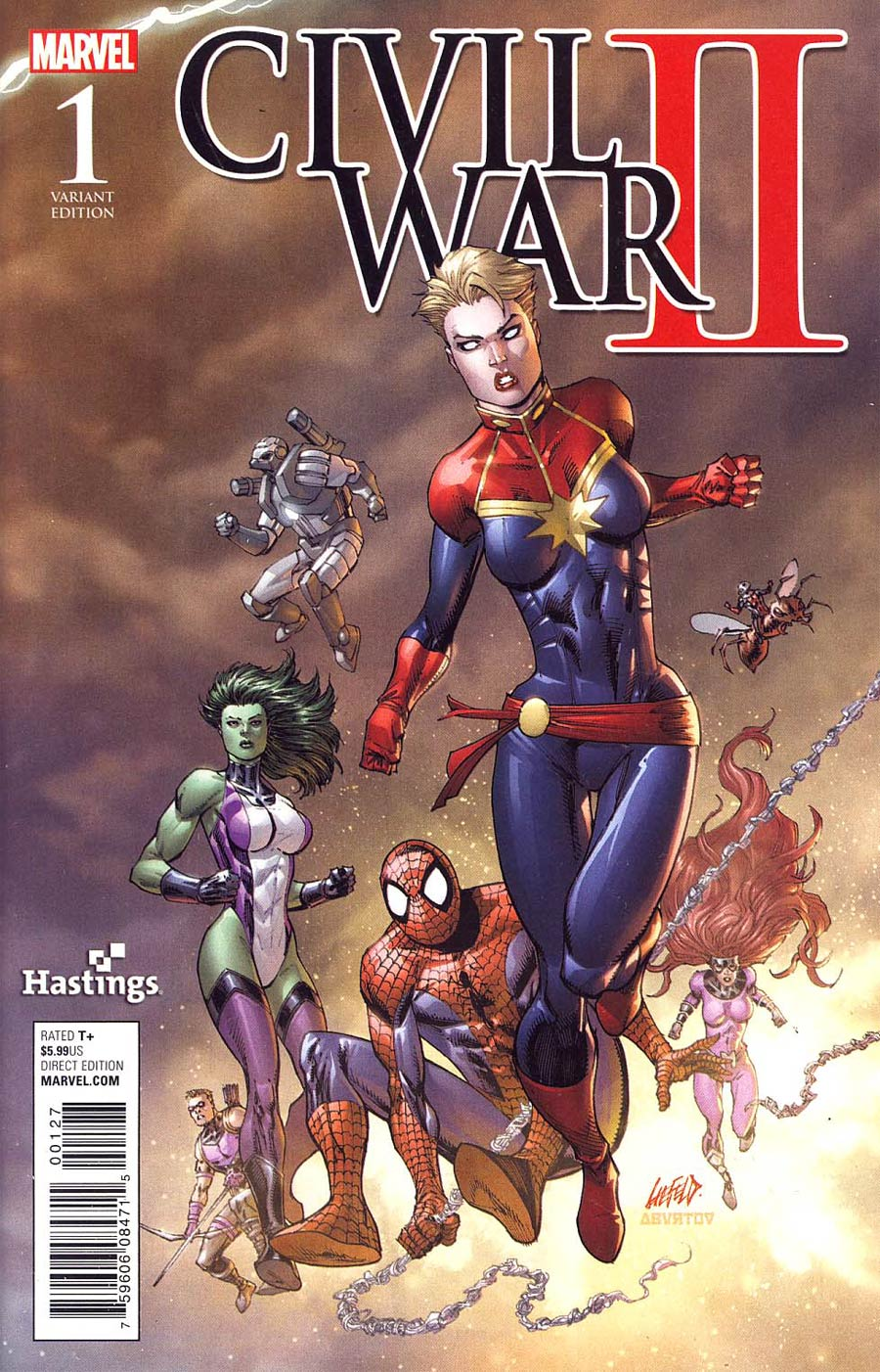 Civil War II #1 Cover Z-A Rob Liefeld Hastings Variant Cover