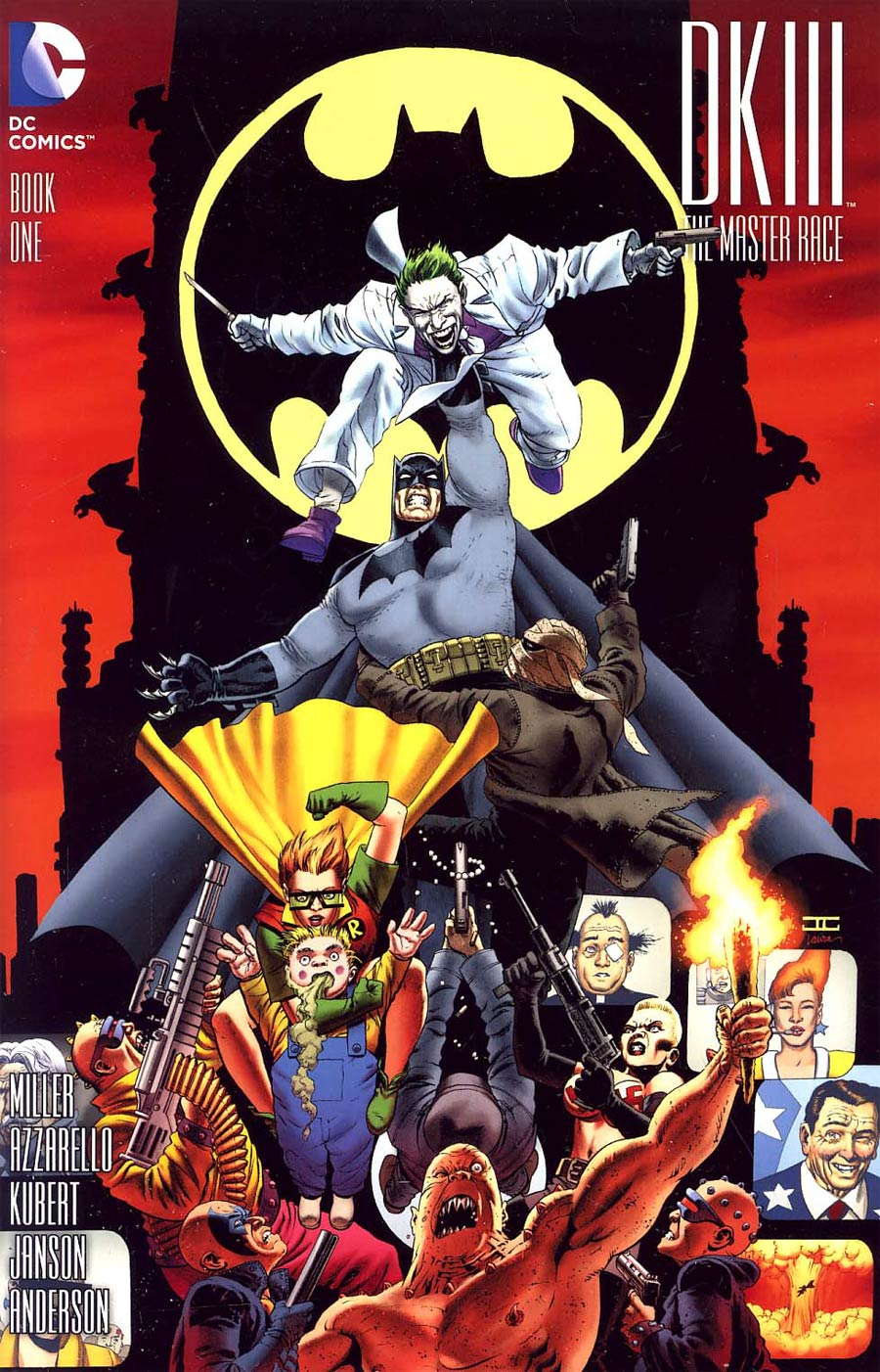 Dark Knight III The Master Race #1 Cover Z-Z-B Lone Star Comics Exclusive Variant Cover