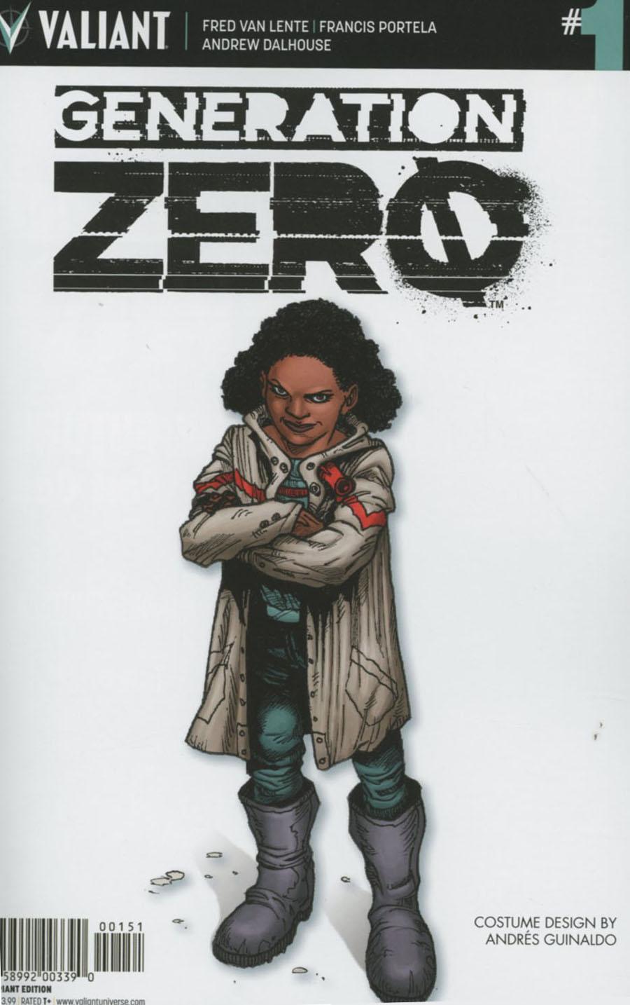 Generation Zero #1 Cover E Incentive Andres Guinaldo Character Design Variant Cover