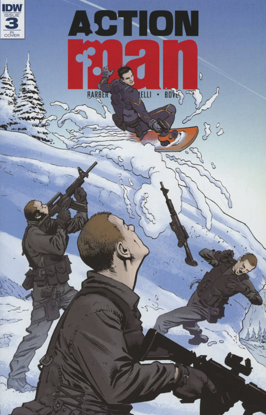 Action Man #3 Cover C Incentive Andrew Currie Variant Cover (Revolution Tie-In)