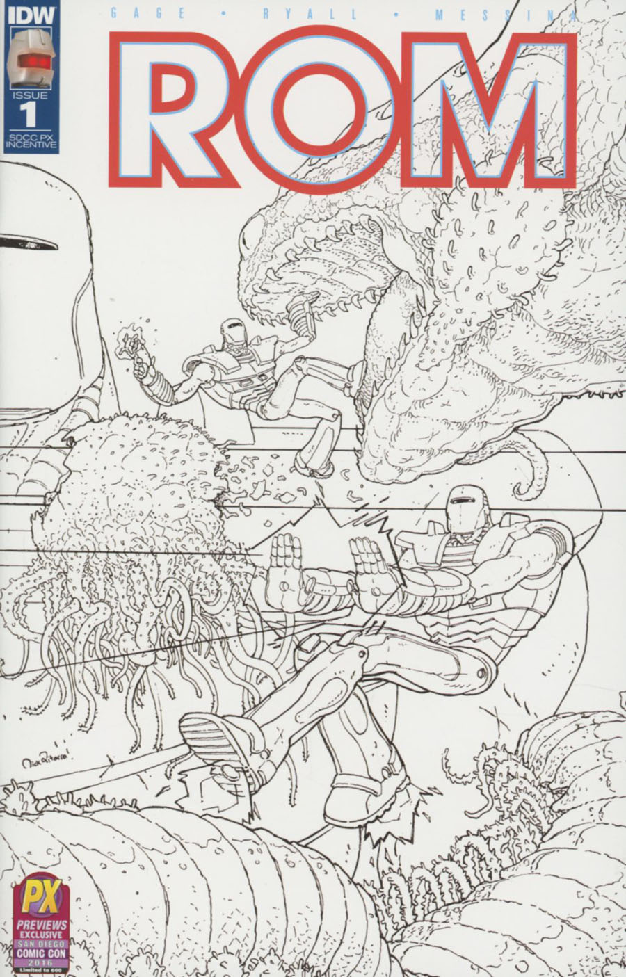 ROM Vol 2 #1 Cover K SDCC 2016 Exclusive Incentive Variant Cover