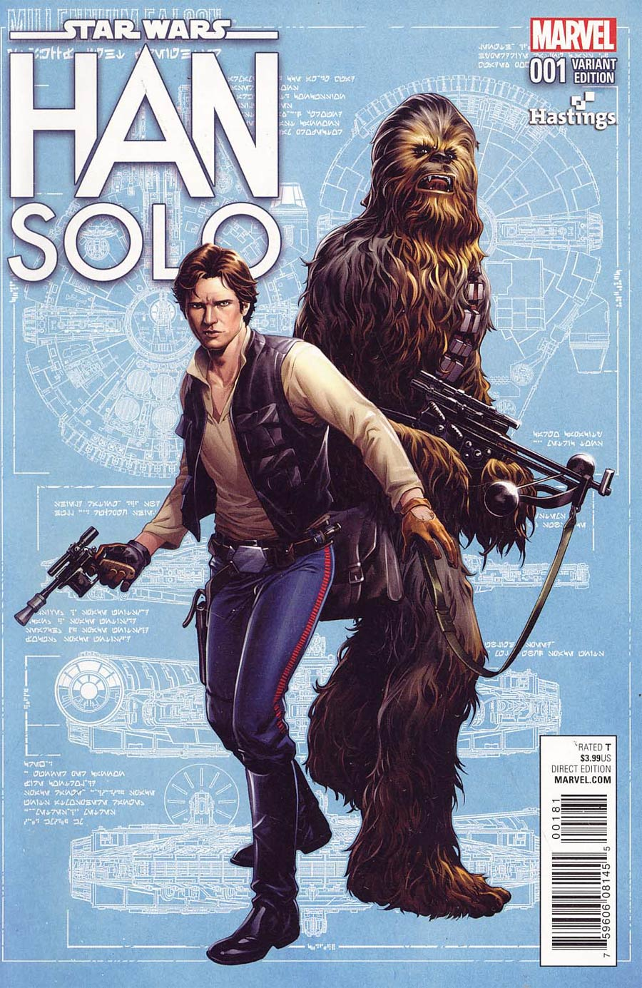 Star Wars Han Solo #1 Cover J Hastings Variant Cover
