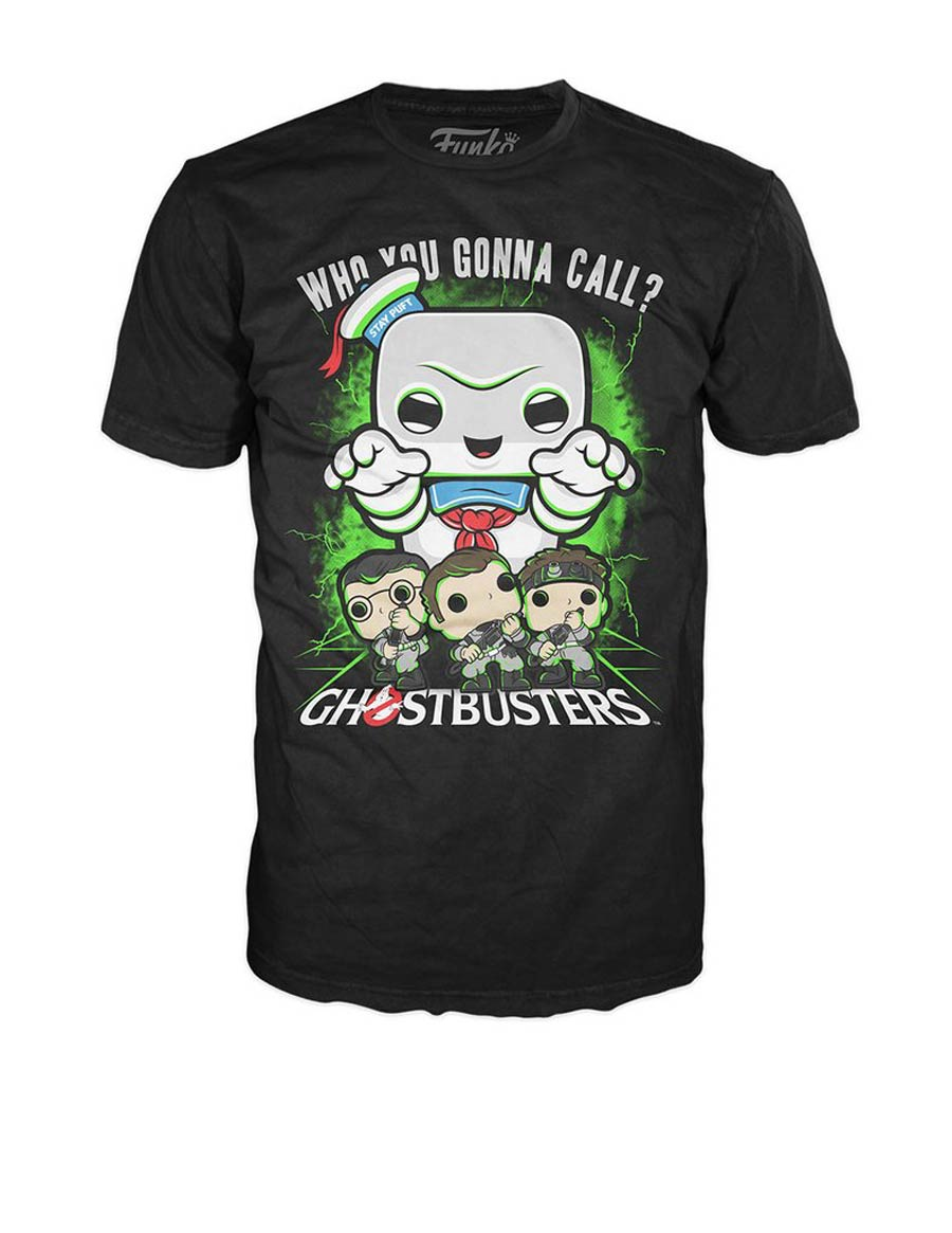 POP Tees Ghostbusters Ghostbusters vs Stay Puft T-Shirt Large