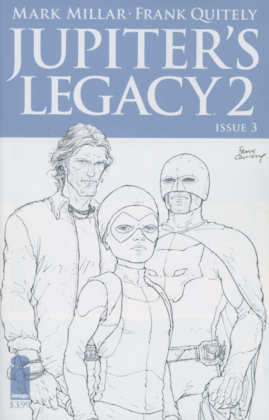 Jupiters Legacy Vol 2 #3 Cover C Incentive Frank Quitely Sketch Cover