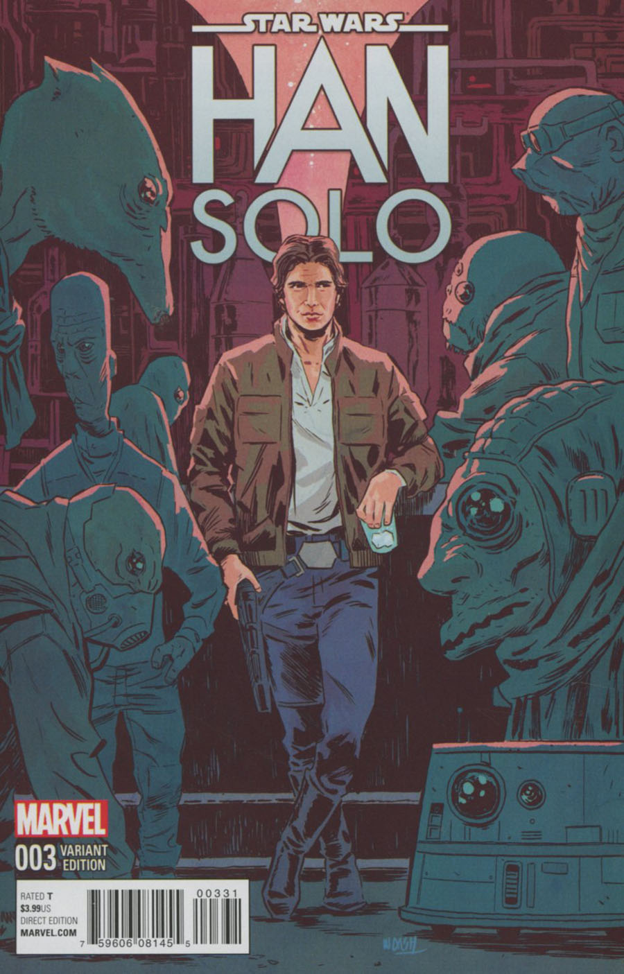 Star Wars Han Solo #3 Cover D Incentive Michael Walsh Variant Cover