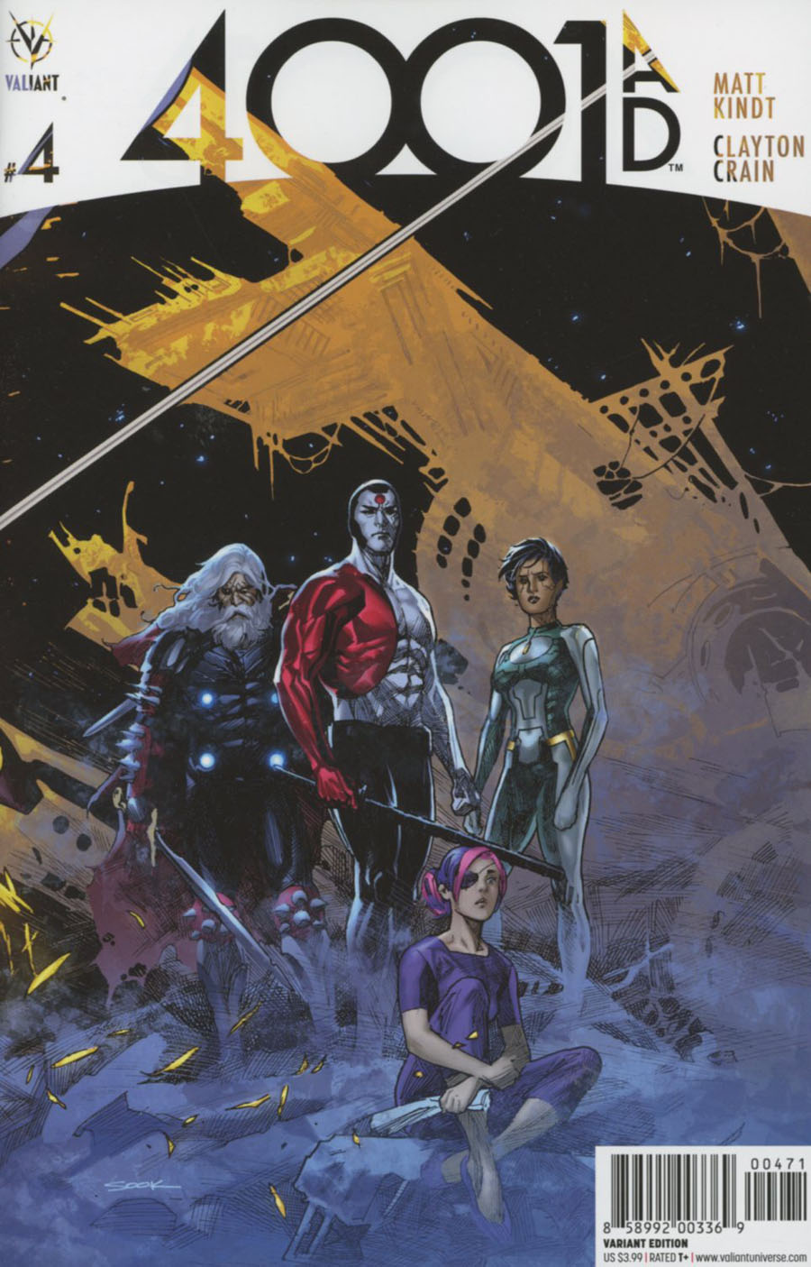 4001 AD #4 Cover G Incentive Ryan Sook Interlocking Artist Color Variant Cover