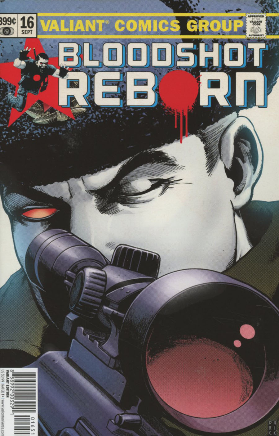 Bloodshot Reborn #16 Cover E Incentive Darick Robertson Variant Cover