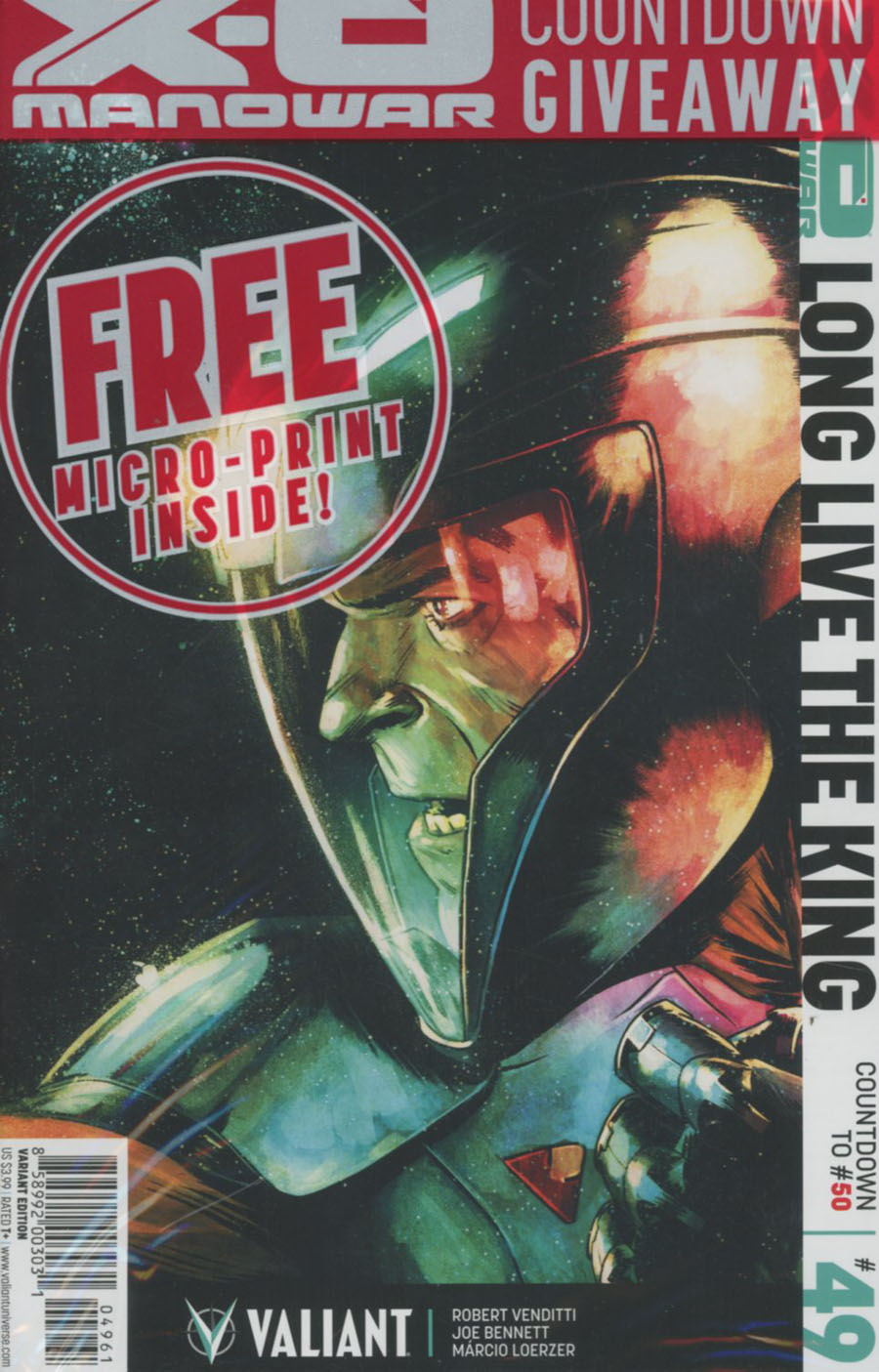 X-O Manowar Vol 3 #49 Cover F Incentive Adam Gorham Variant Cover