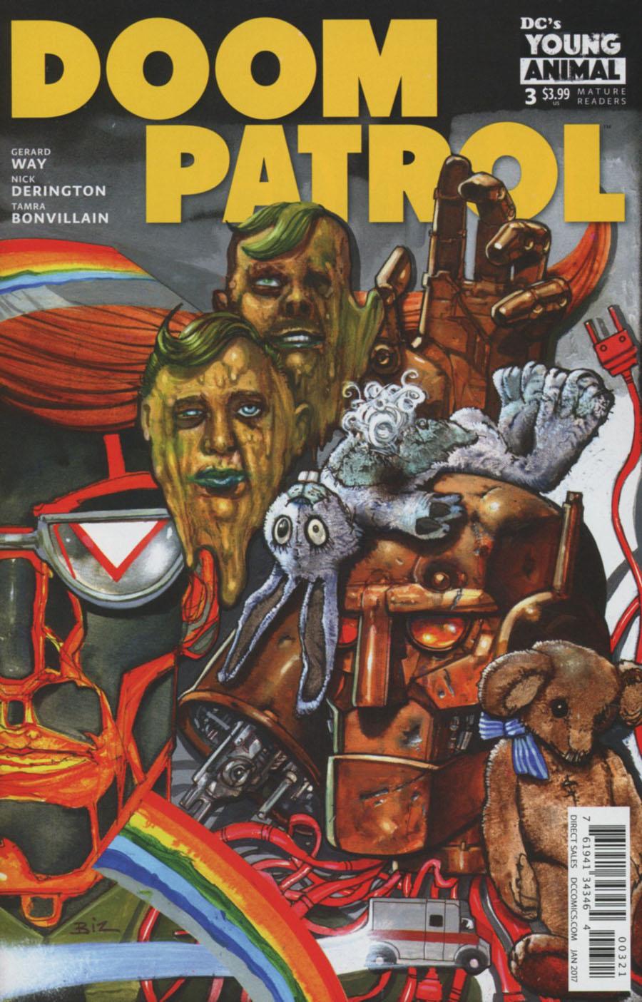 Doom Patrol Vol 6 #3 Cover B Variant Simon Bisley Cover