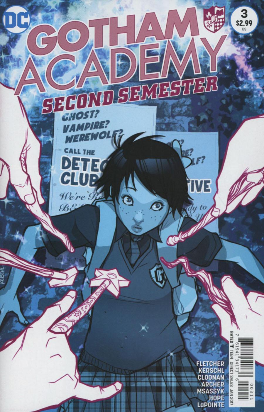 Gotham Academy Second Semester #3 Cover A Regular Karl Kerschl Cover