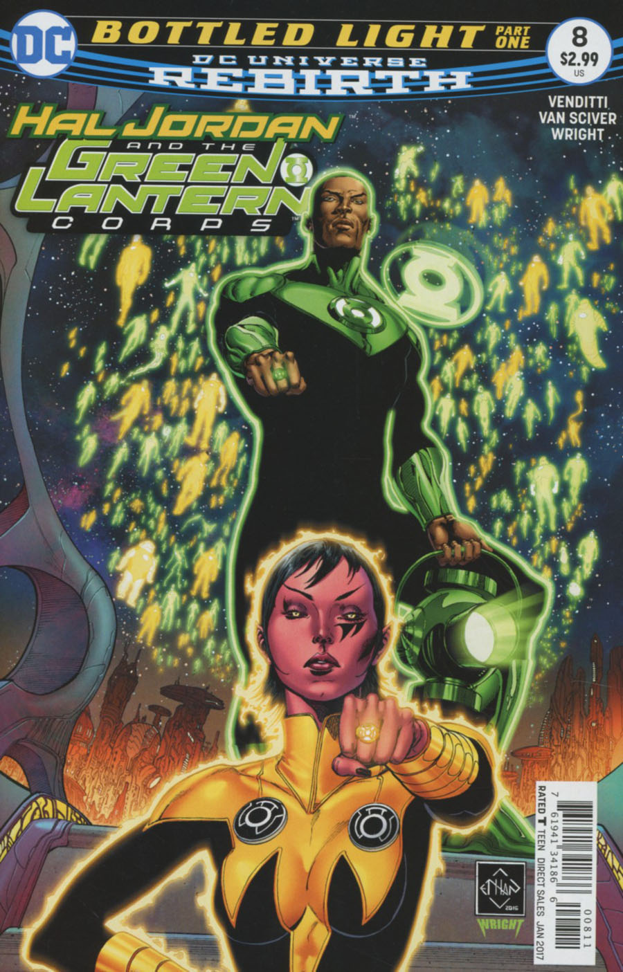 Hal Jordan And The Green Lantern Corps #8 Cover A Regular Ethan Van Sciver & Jason Wright Cover