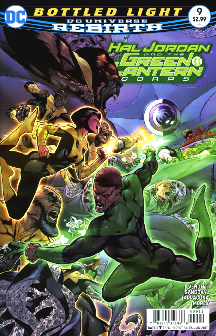 Hal Jordan And The Green Lantern Corps #9 Cover A Regular Rafa Sandoval & Jordi Tarragona Cover