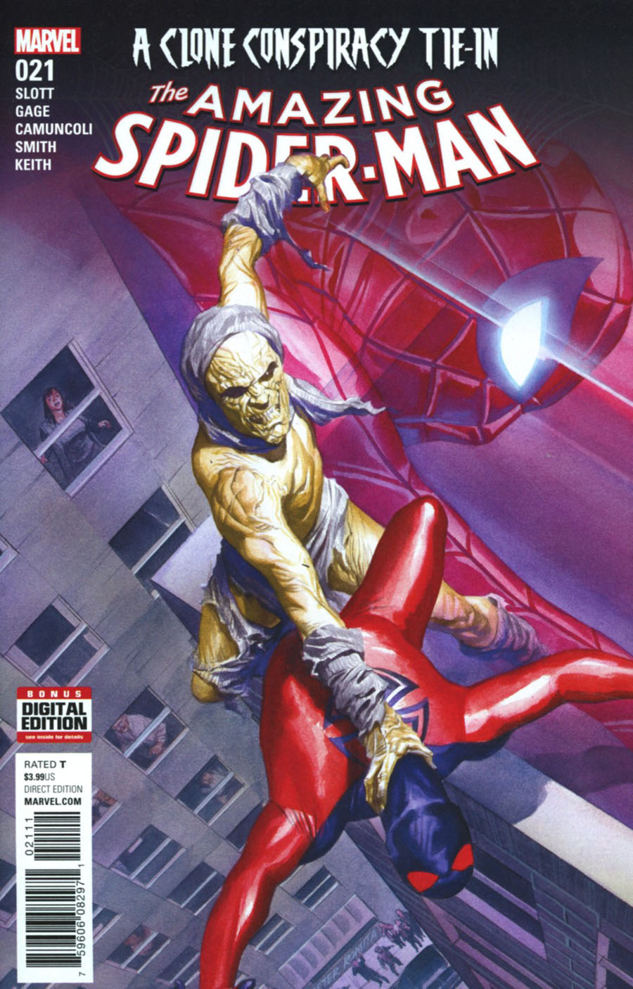 Amazing Spider-Man Vol 4 #21 Cover A 1st Ptg Regular Alex Ross Cover (Clone Conspiracy Tie-In)