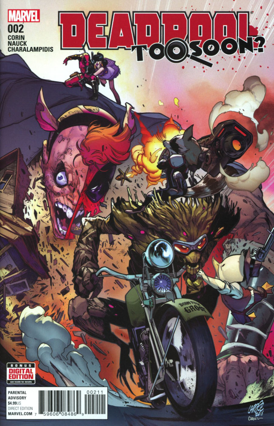Deadpool Too Soon #2 Cover A Regular Pepe Larraz Cover