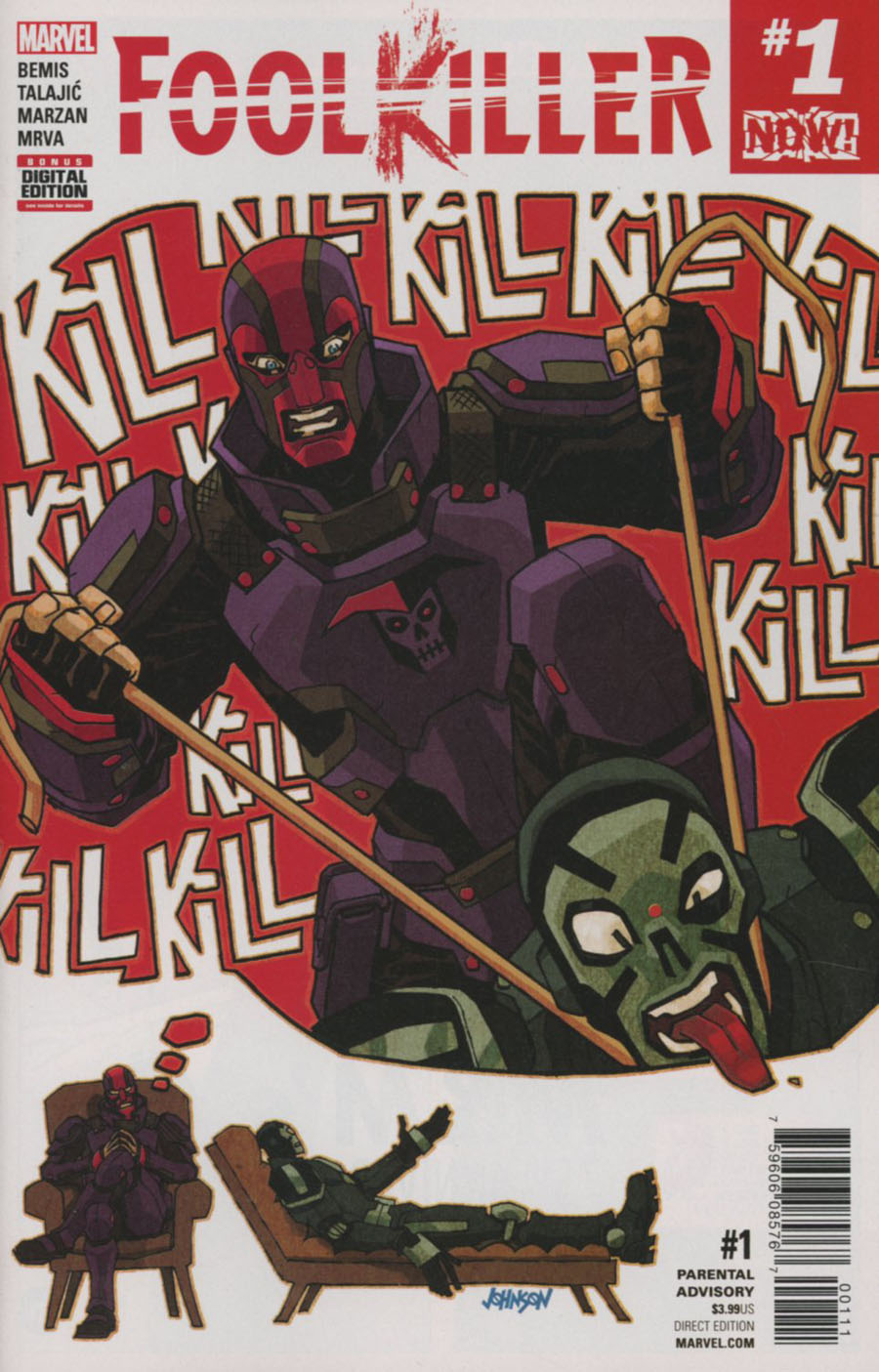 Foolkiller Vol 3 #1 Cover A 1st Ptg Regular Dave Johnson Cover (Marvel Now Tie-In)