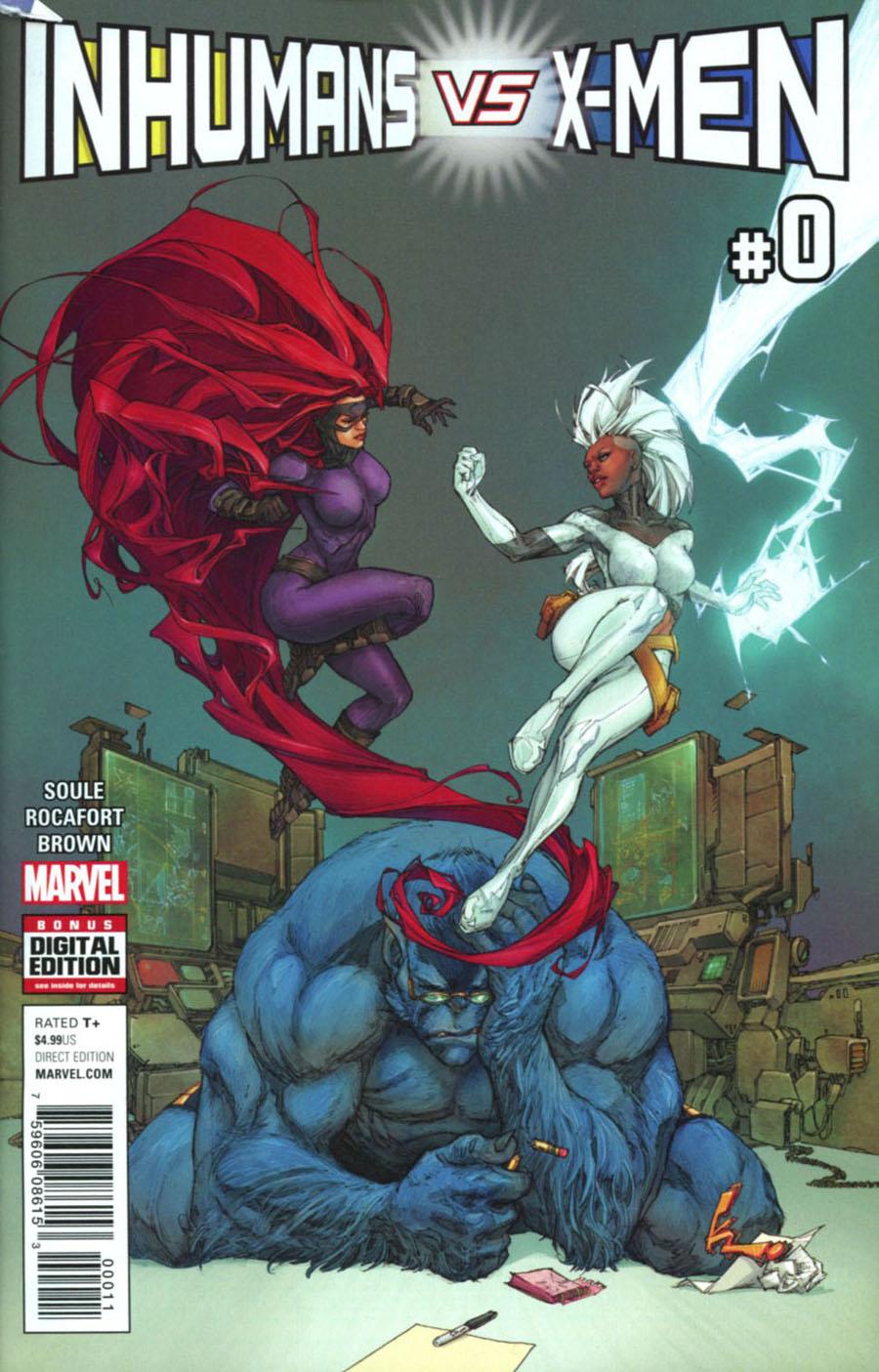 Inhumans vs X-Men #0 Cover A Regular Kenneth Rocafort Cover