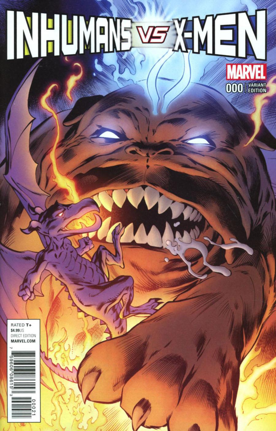 Inhumans vs X-Men #0 Cover B Variant Alan Davis Cover
