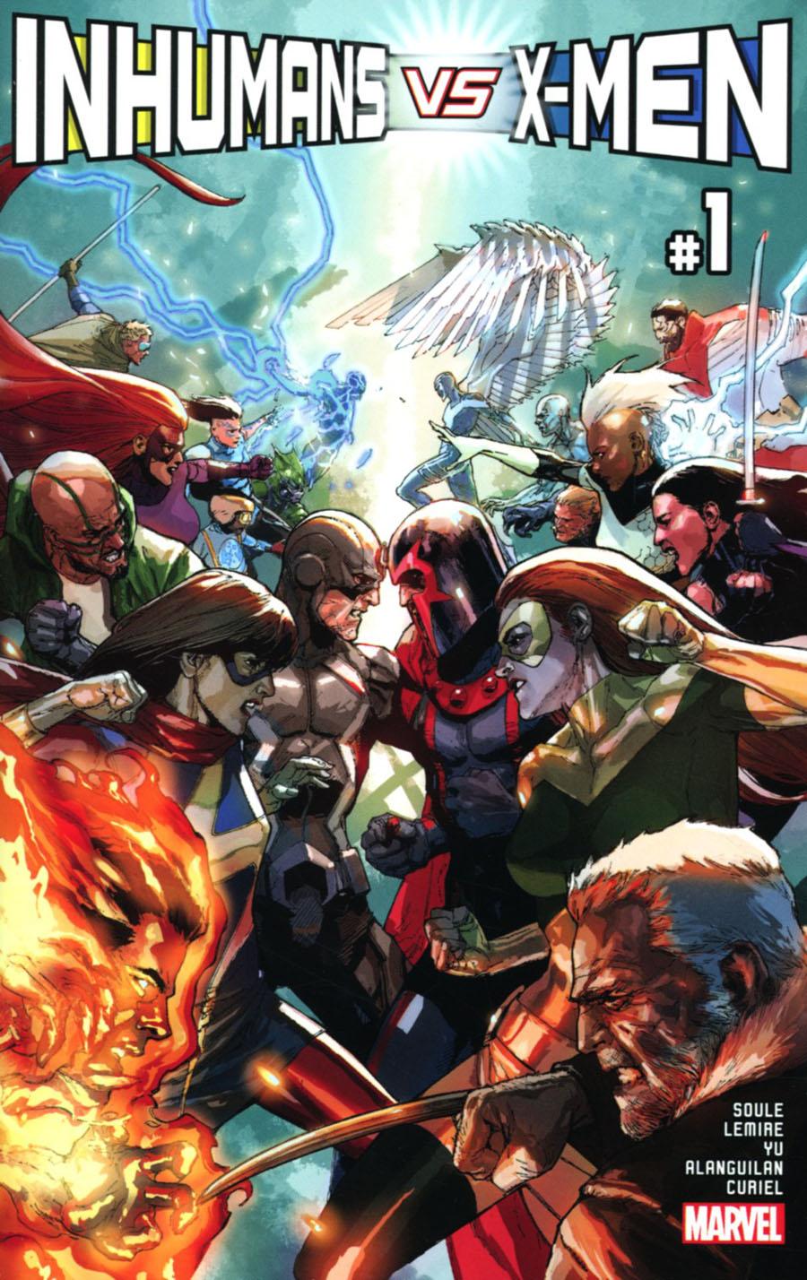 Inhumans vs X-Men #1 Cover A Regular Leinil Francis Yu Cover