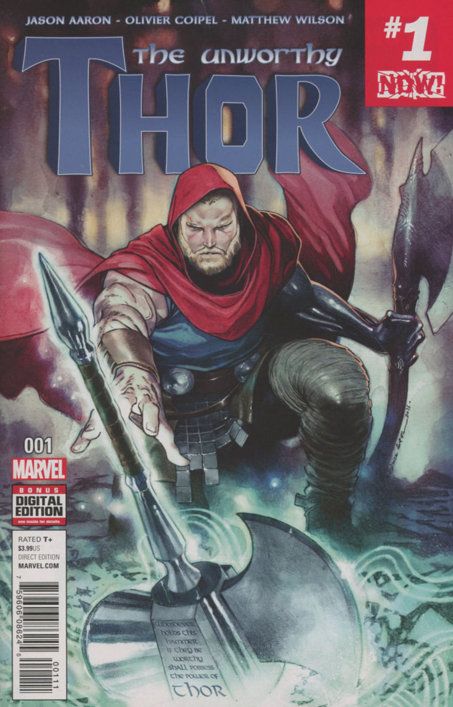 Unworthy Thor #1 Cover A 1st Ptg Regular Olivier Coipel Cover (Marvel Now Tie-In)
