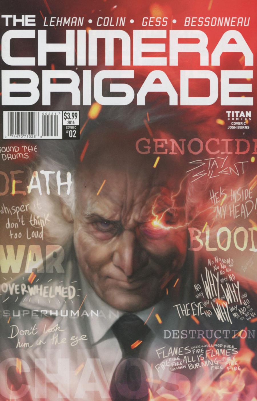 Chimera Brigade #2 Cover C Variant Josh Burns Cover