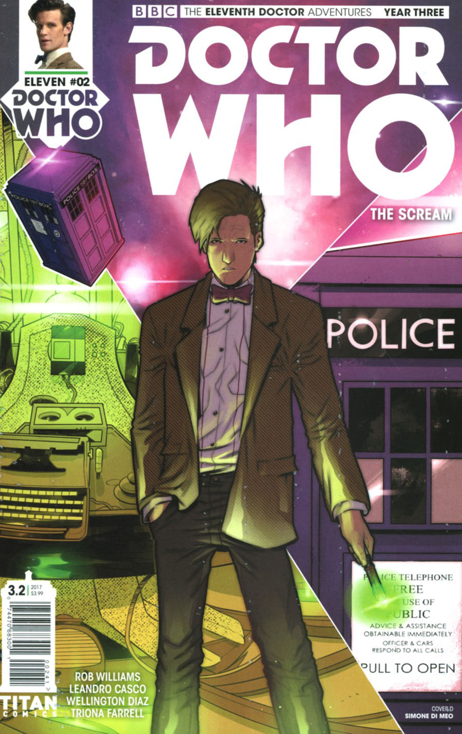 Doctor Who 11th Doctor Year Three #2 Cover D Variant Simone Di Meo Cover