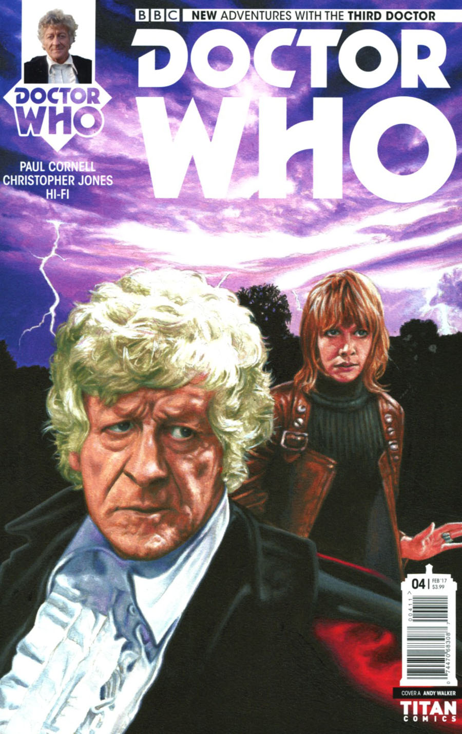 Doctor Who 3rd Doctor #4 Cover A Regular Andy Walker Cover