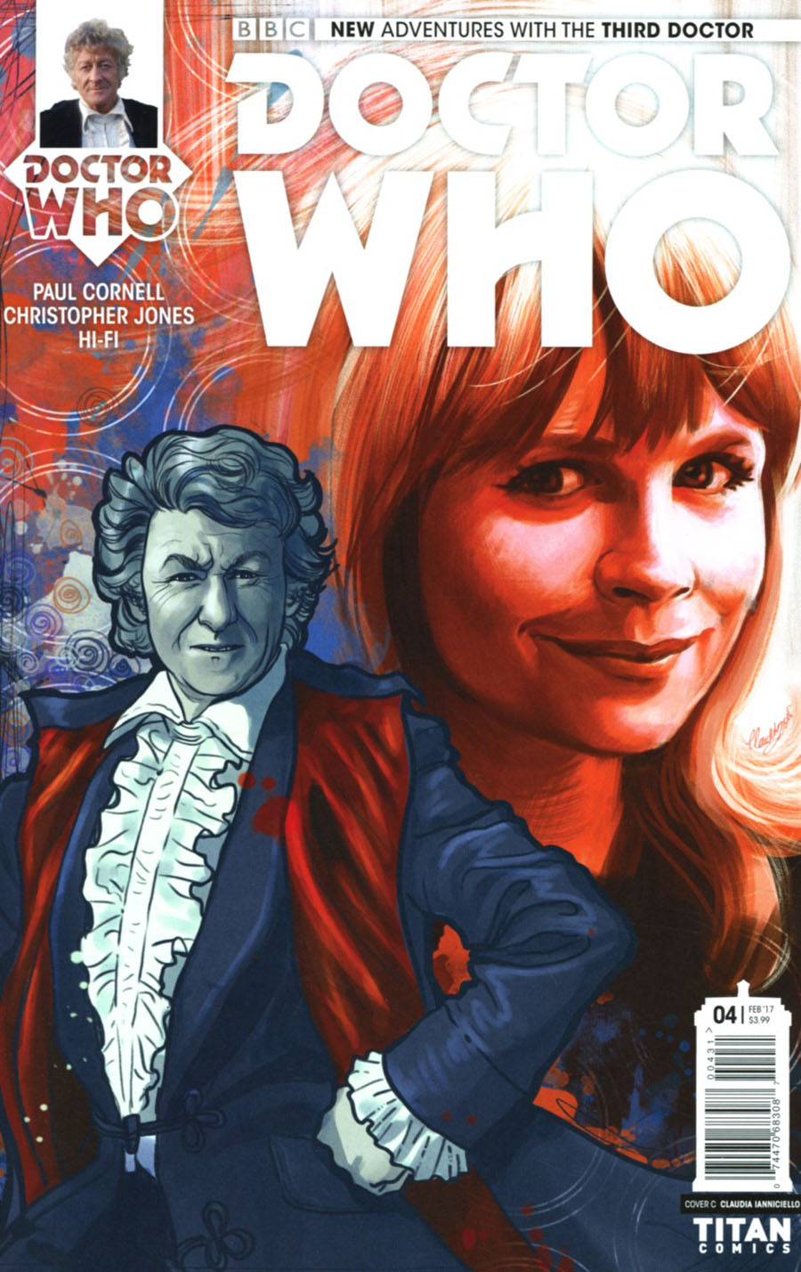 Doctor Who 3rd Doctor #4 Cover C Variant Claudia Ianniciello Cover