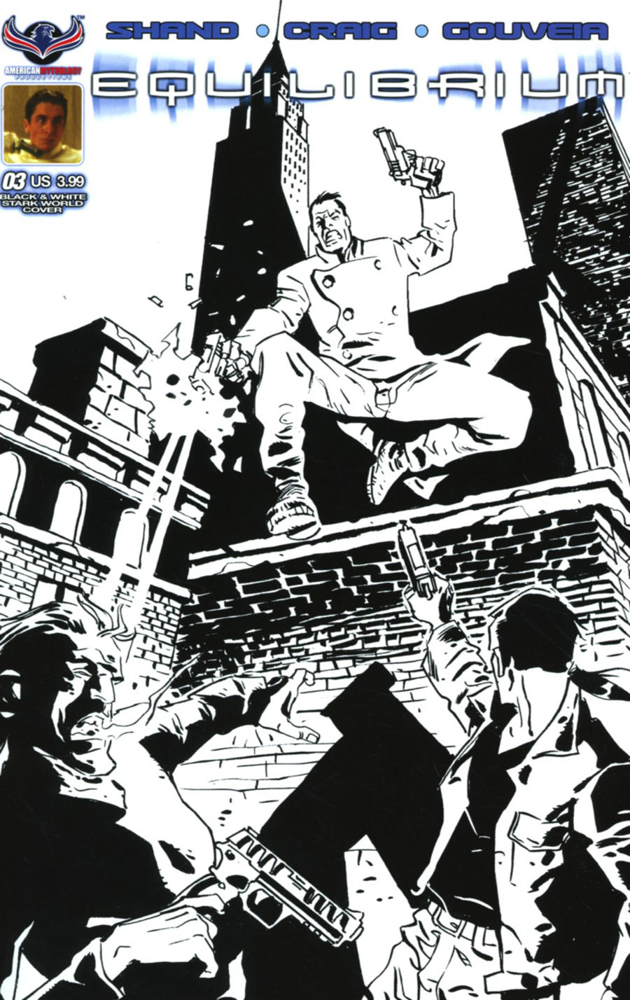 Equilibrium #3 Cover B Variant Giancarlo Caracuzzo Stark World Black & White Subscription Cover
