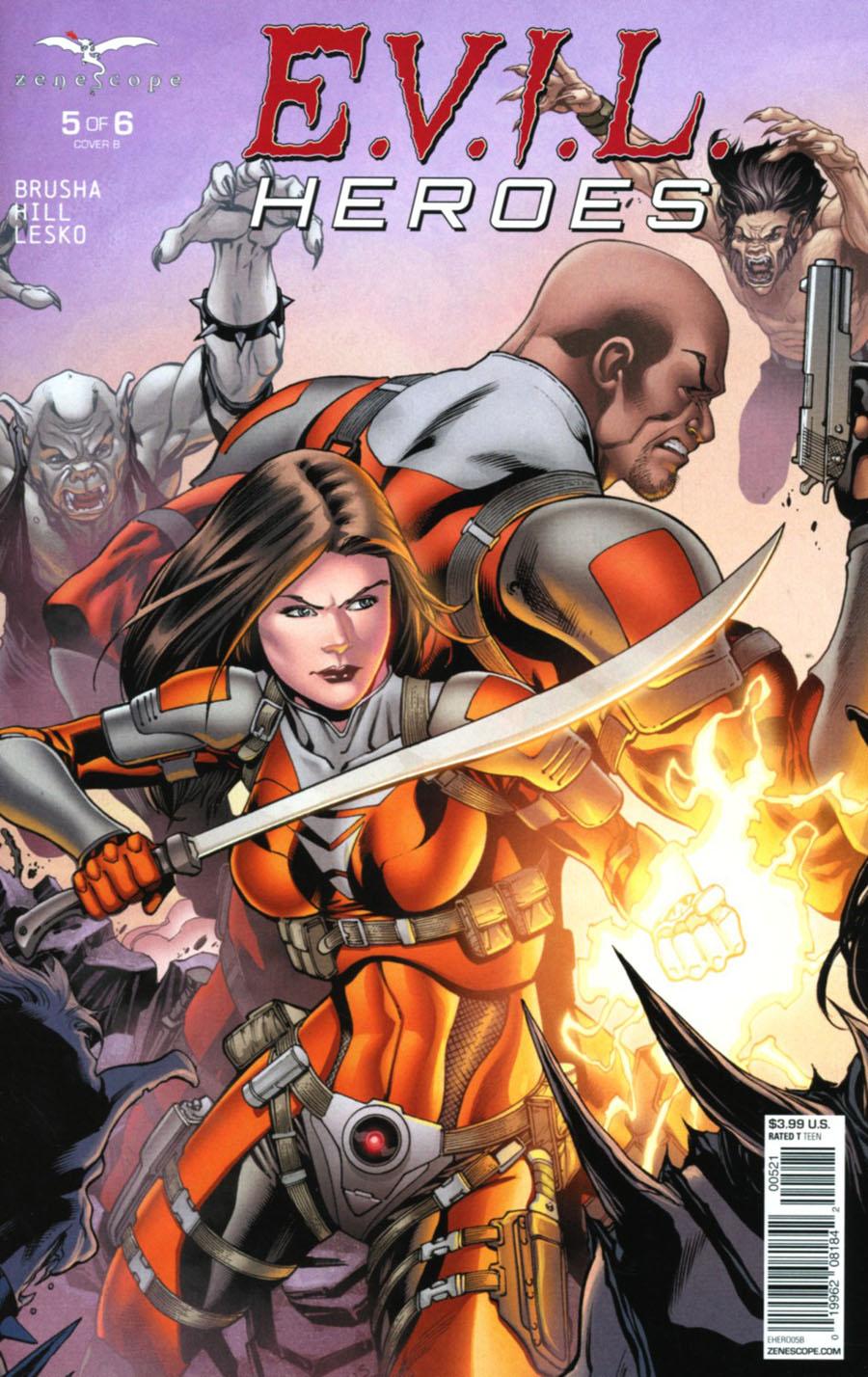 Evil Heroes #5 Cover B Robert Atkins