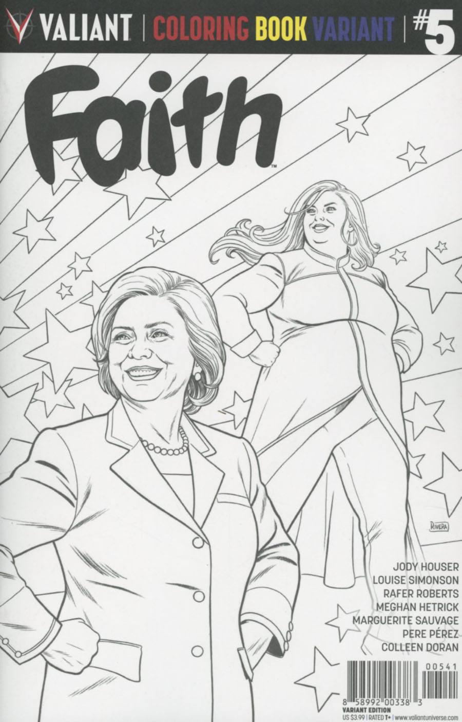 Faith (Valiant Entertainment) Vol 2 #5 Cover D Variant Adult Coloring Book Cover