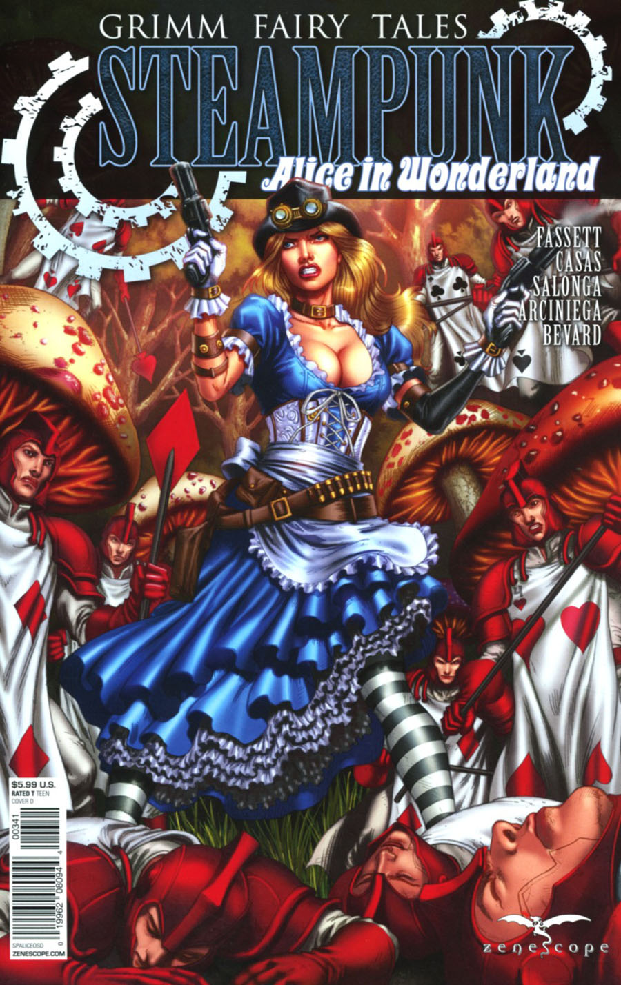 Grimm Fairy Tales Presents Steampunk Alice In Wonderland Cover D Jose Luis