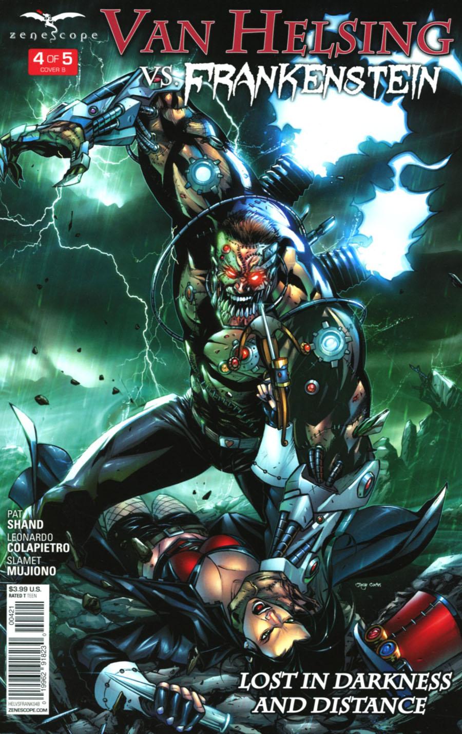 Grimm Fairy Tales Presents Van Helsing vs Frankenstein #4 Cover B David Lorenzo Riveiro