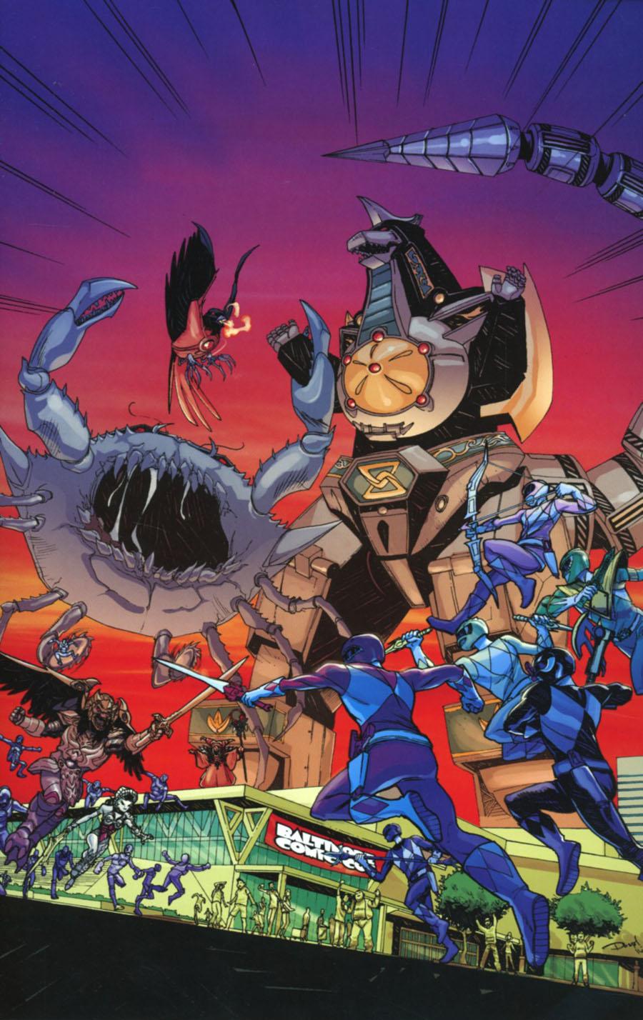 Mighty Morphin Power Rangers (BOOM Studios) #6 Cover F Baltimore Comicon Exclusive Dominike DOMO Stanton Variant Cover
