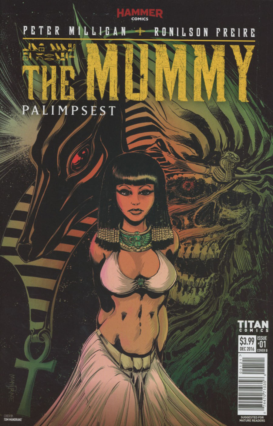 Mummy #1 Cover B Variant Tom Mandrake & MD Penman Cover