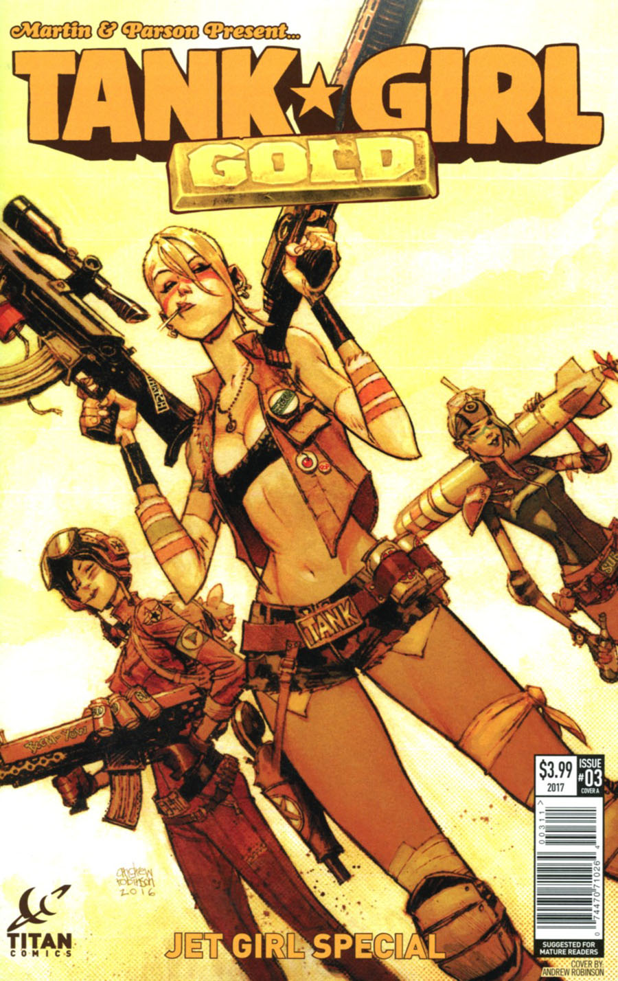 Tank Girl Gold #3 Cover A Regular Andrew Robinson Cover