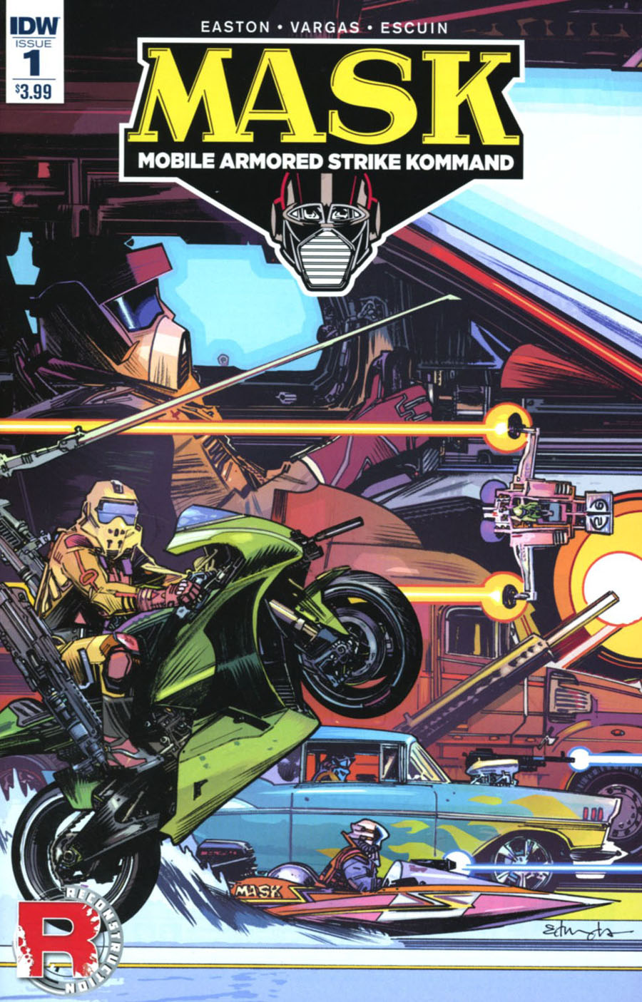 M.A.S.K. Mobile Armored Strike Kommand #1 Cover A Regular Tommy Lee Edwards Cover