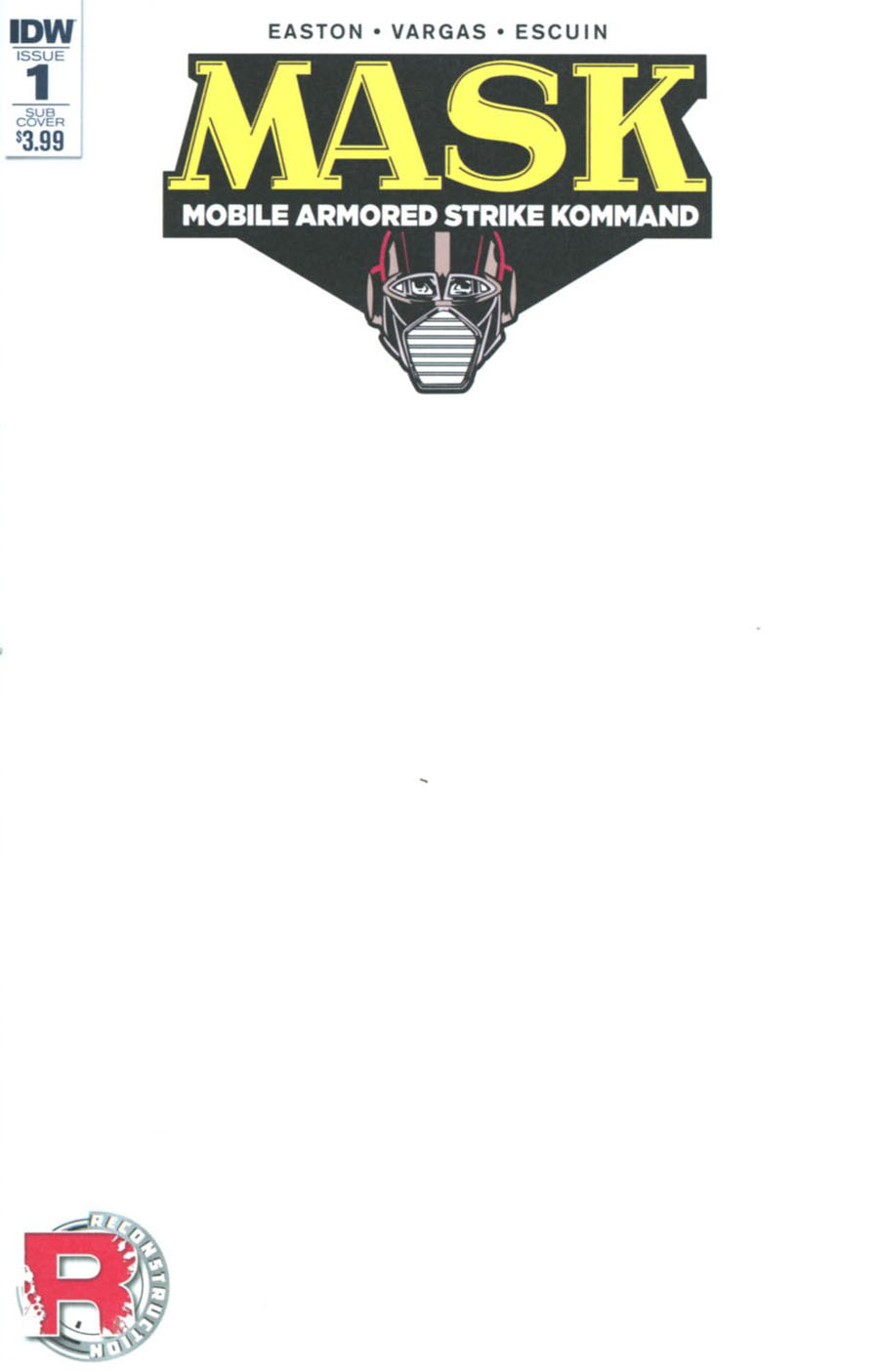 M.A.S.K. Mobile Armored Strike Kommand #1 Cover D Variant Blank Subscription Cover