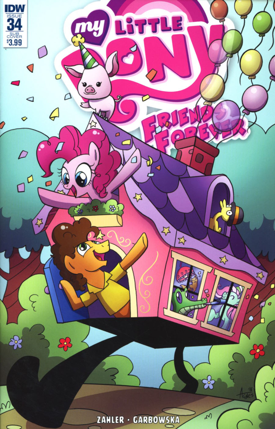 My Little Pony Friends Forever #34 Cover B Variant Agnes Garbowska Subscription Cover