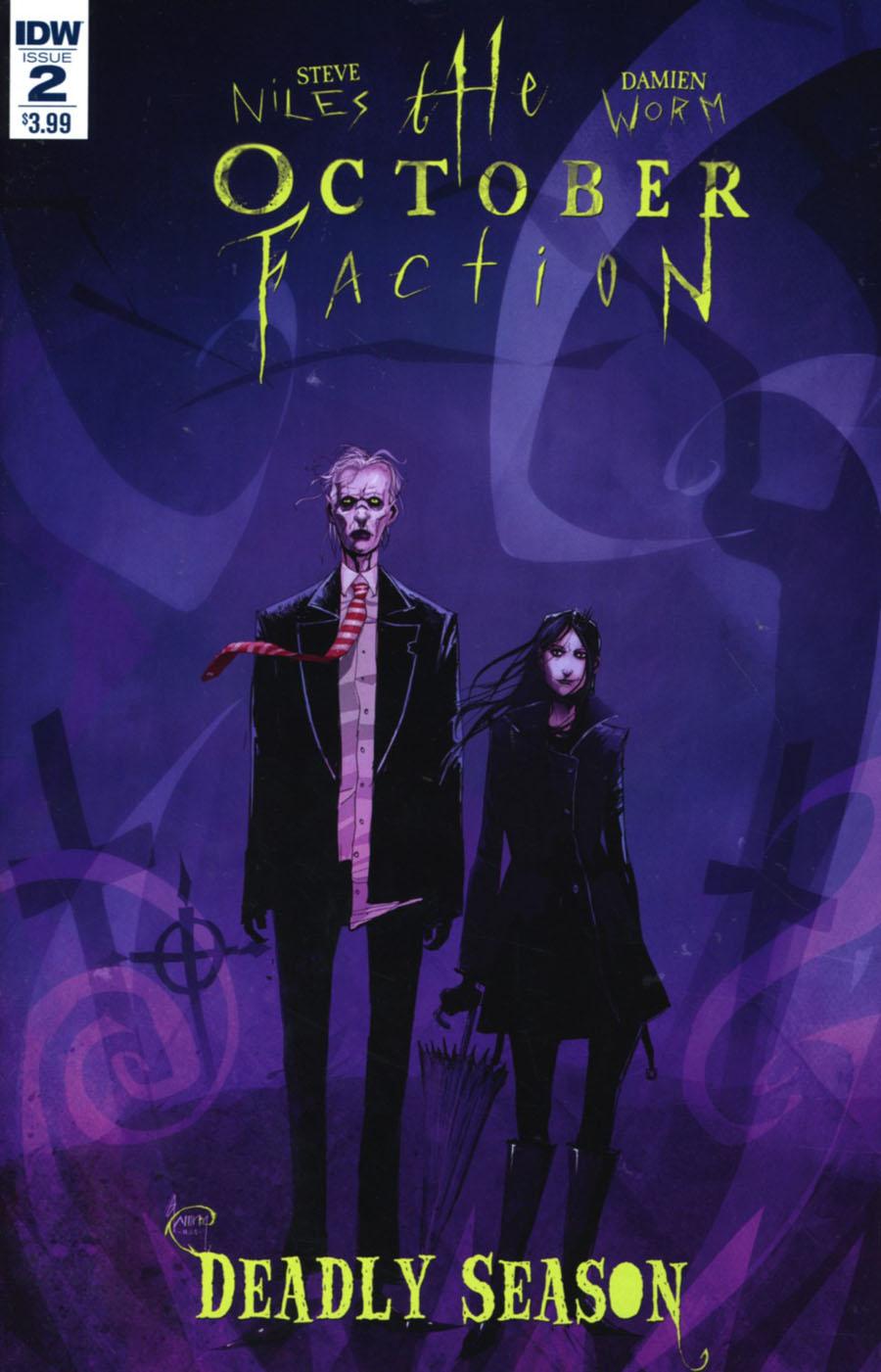 October Faction Deadly Season #2 Cover A Regular Damien Worm Cover