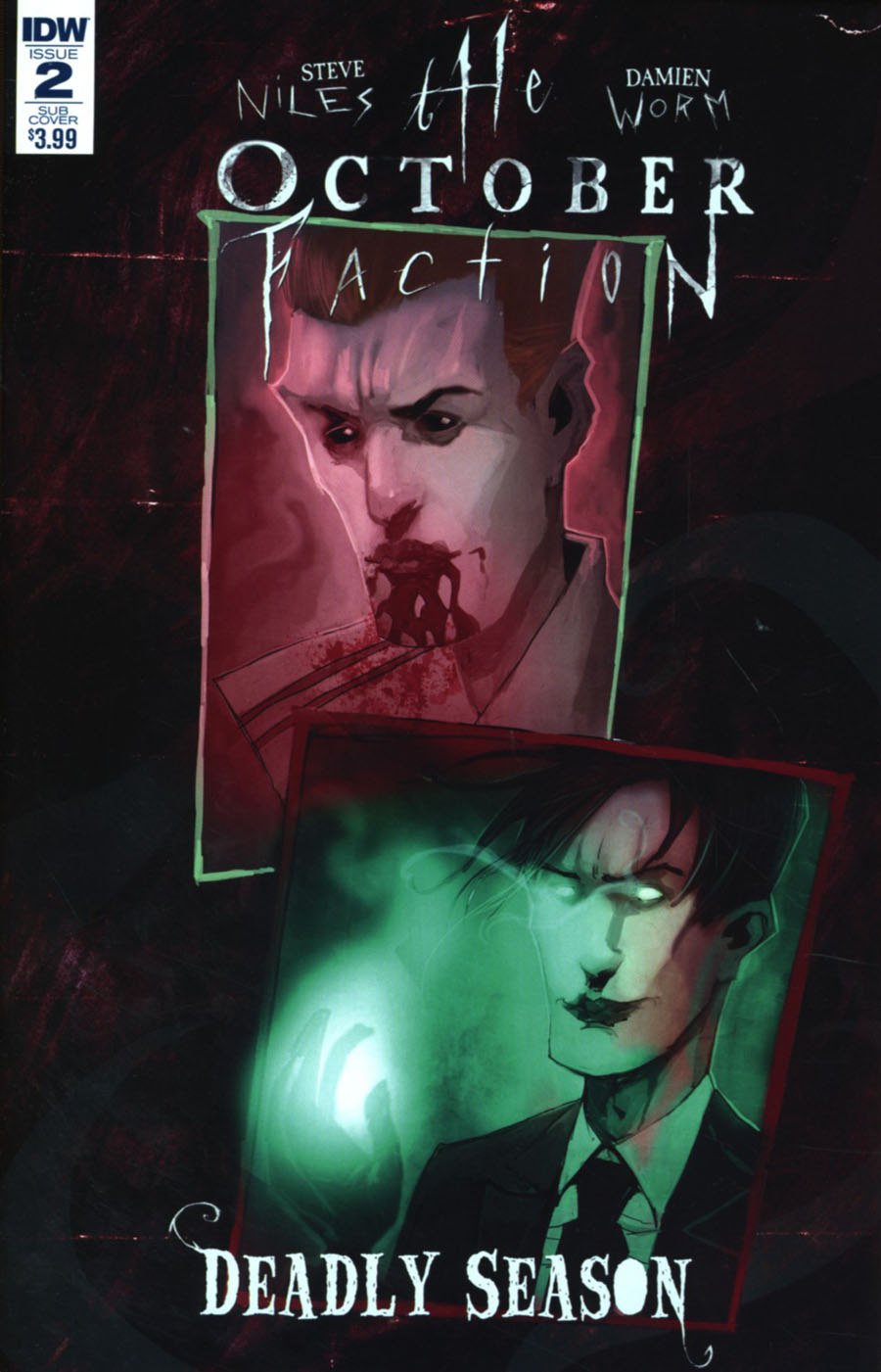 October Faction Deadly Season #2 Cover B Variant Damien Worm Subscription Cover