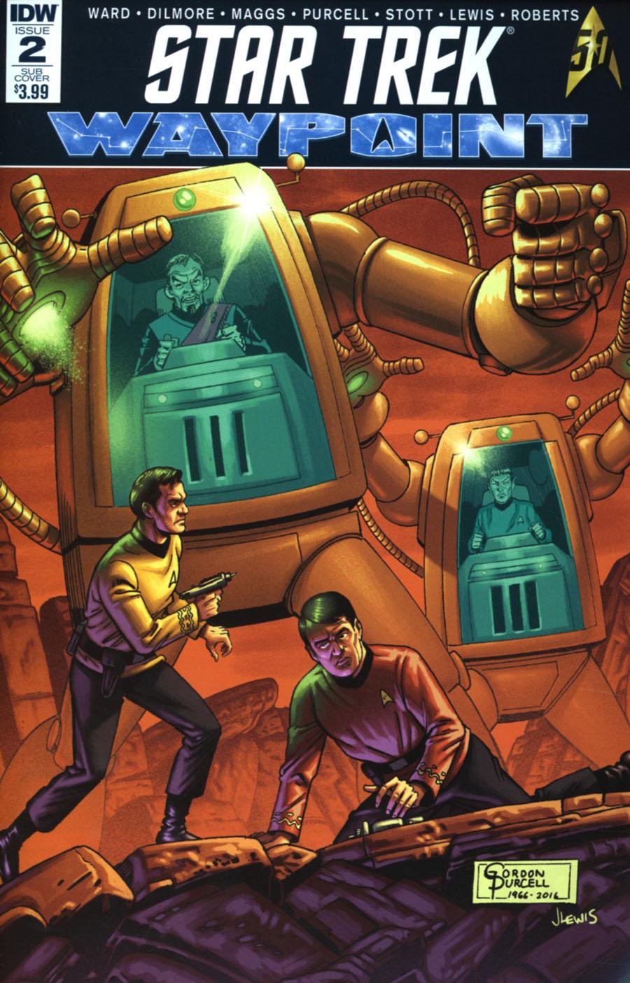 Star Trek Waypoint #2 Cover B Variant Gordon Purcell Subscription Cover