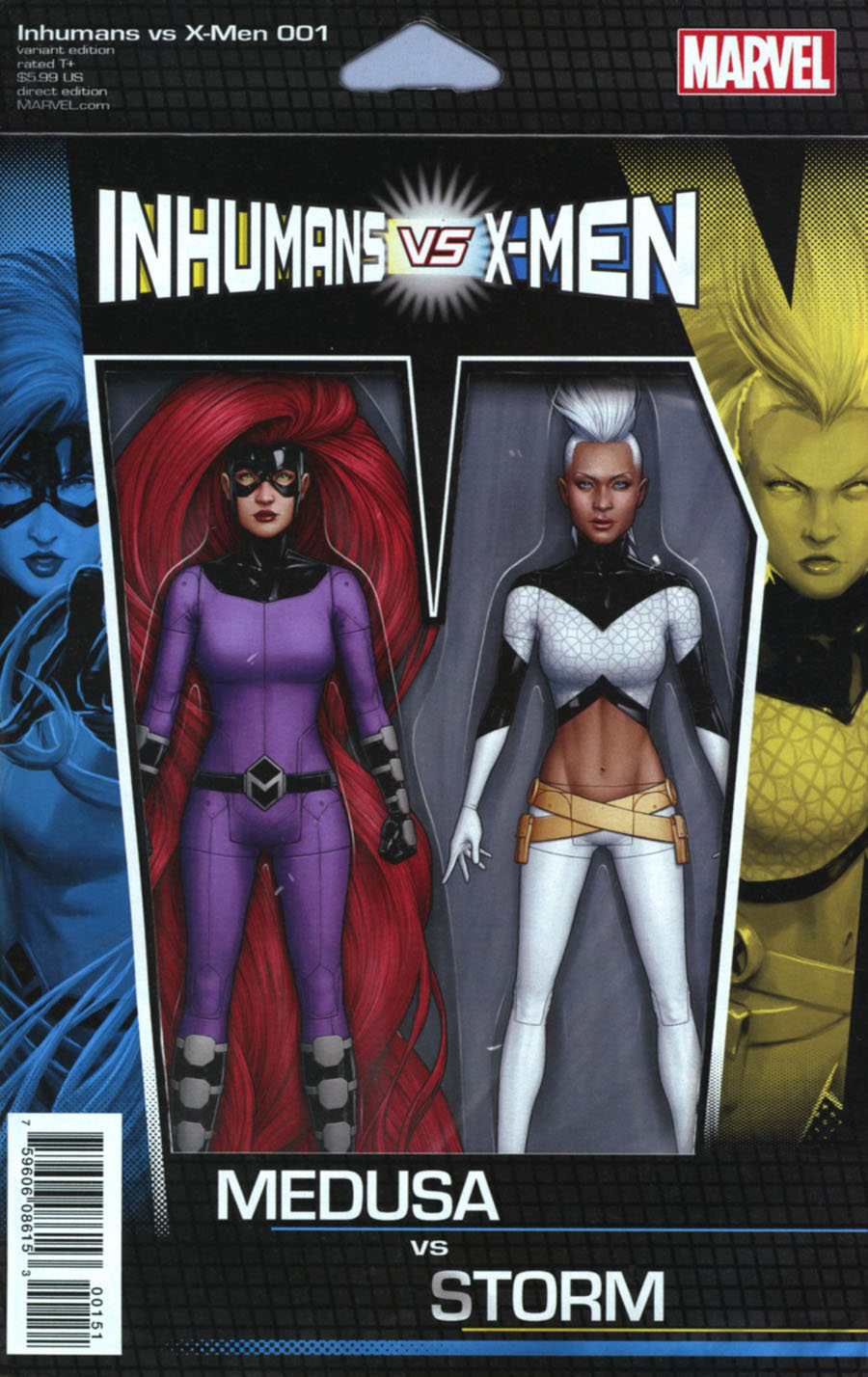 Inhumans vs X-Men #1 Cover F Variant John Tyler Christopher Action Figure Cover