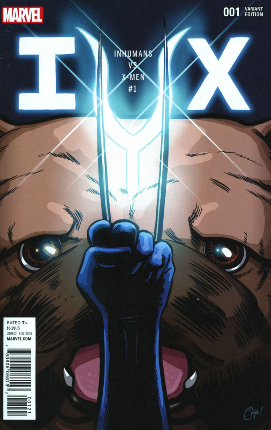 Inhumans vs X-Men #1 Cover E Variant Chip Zdarsky Color Cover