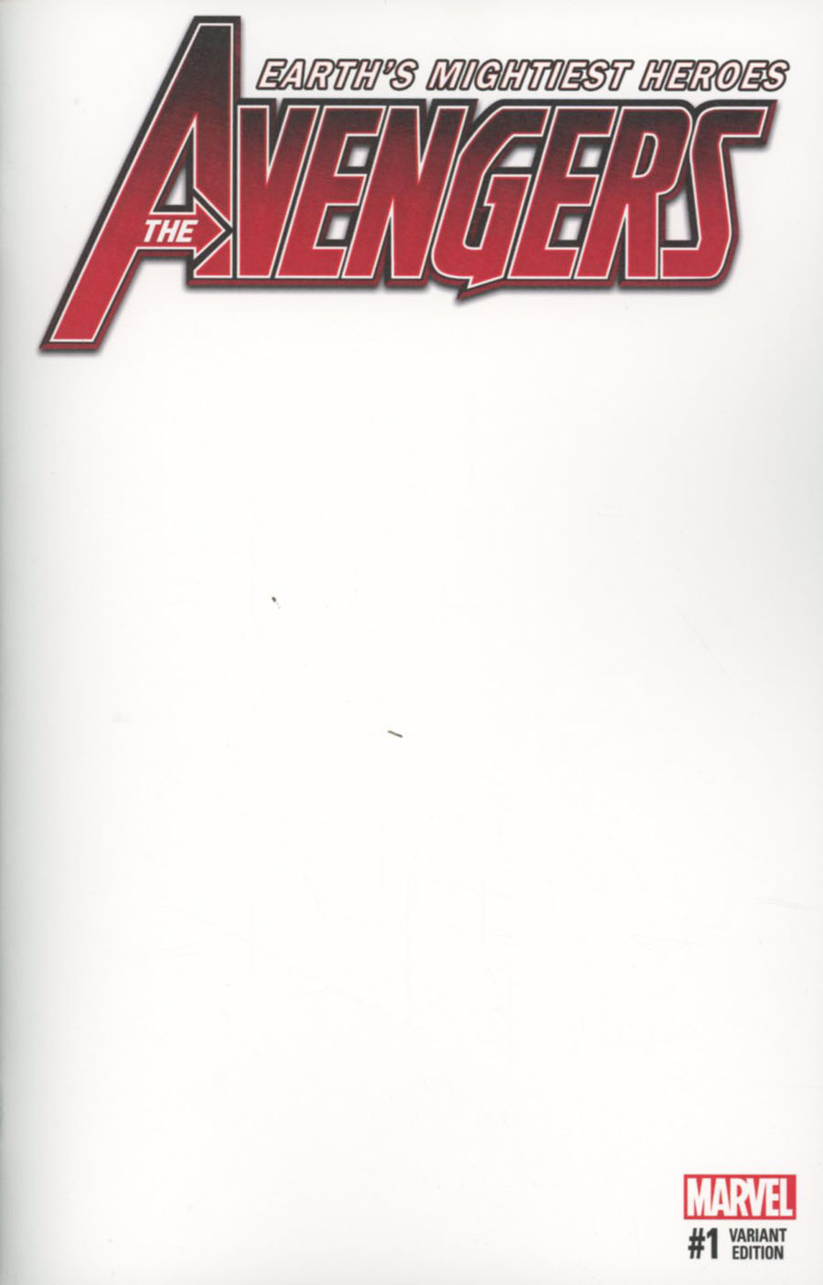 Avengers Vol 6 #1 Cover C Variant Blank Cover (Marvel Now Tie-In)