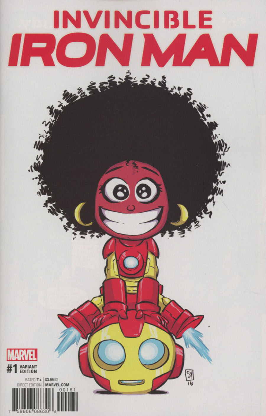 Invincible Iron Man Vol 3 #1 Cover E Variant Skottie Young Baby Cover (Marvel Now Tie-In)