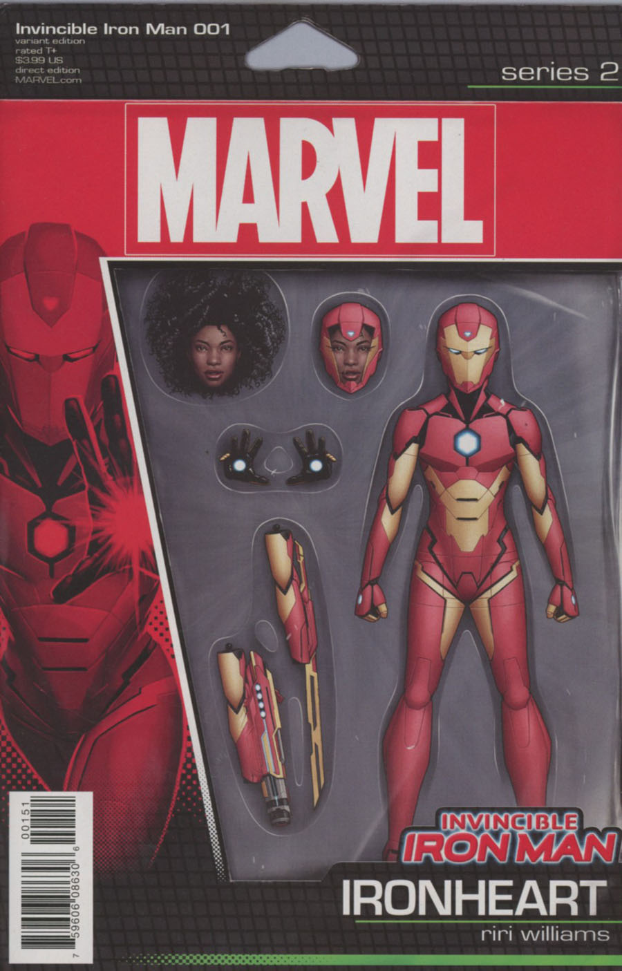 Invincible Iron Man Vol 3 #1 Cover D Variant John Tyler Christopher Riri Action Figure Cover (Marvel Now Tie-In)
