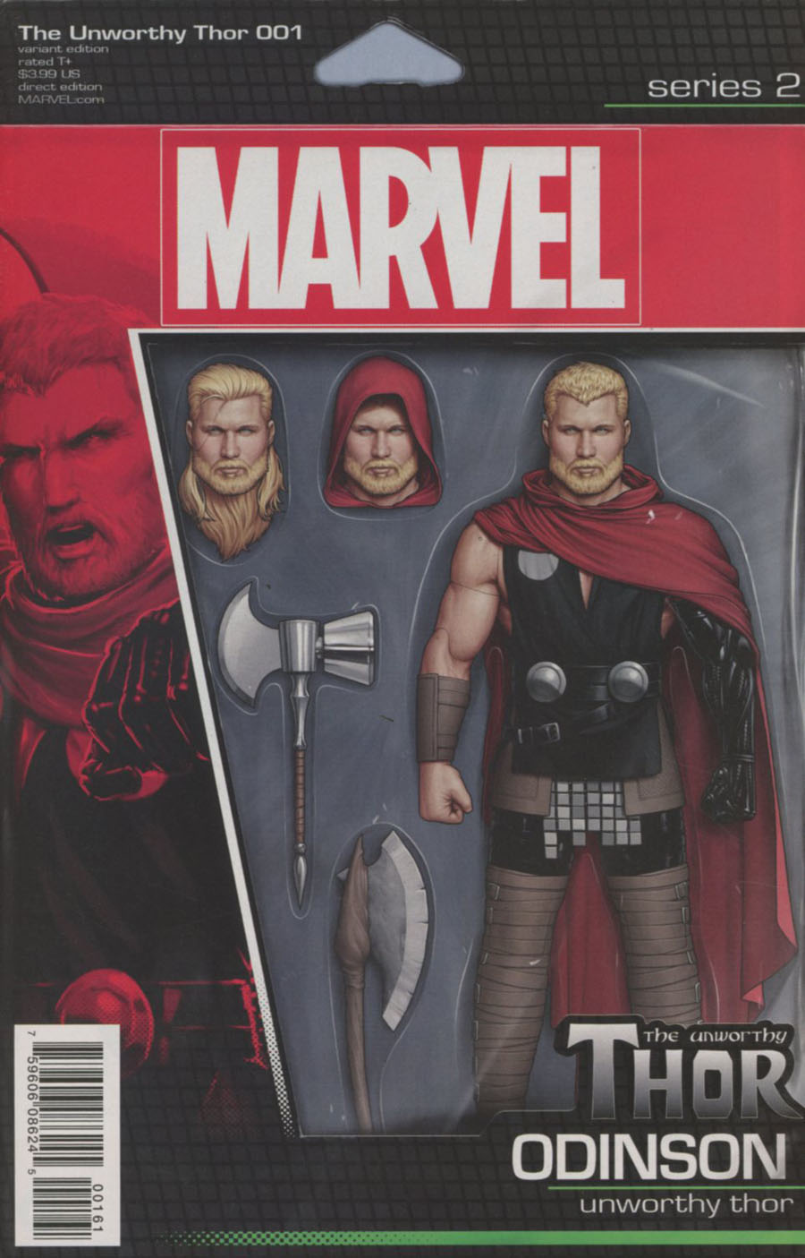 Unworthy Thor #1 Cover D Variant John Tyler Christopher Odinson Action Figure Cover (Marvel Now Tie-In)