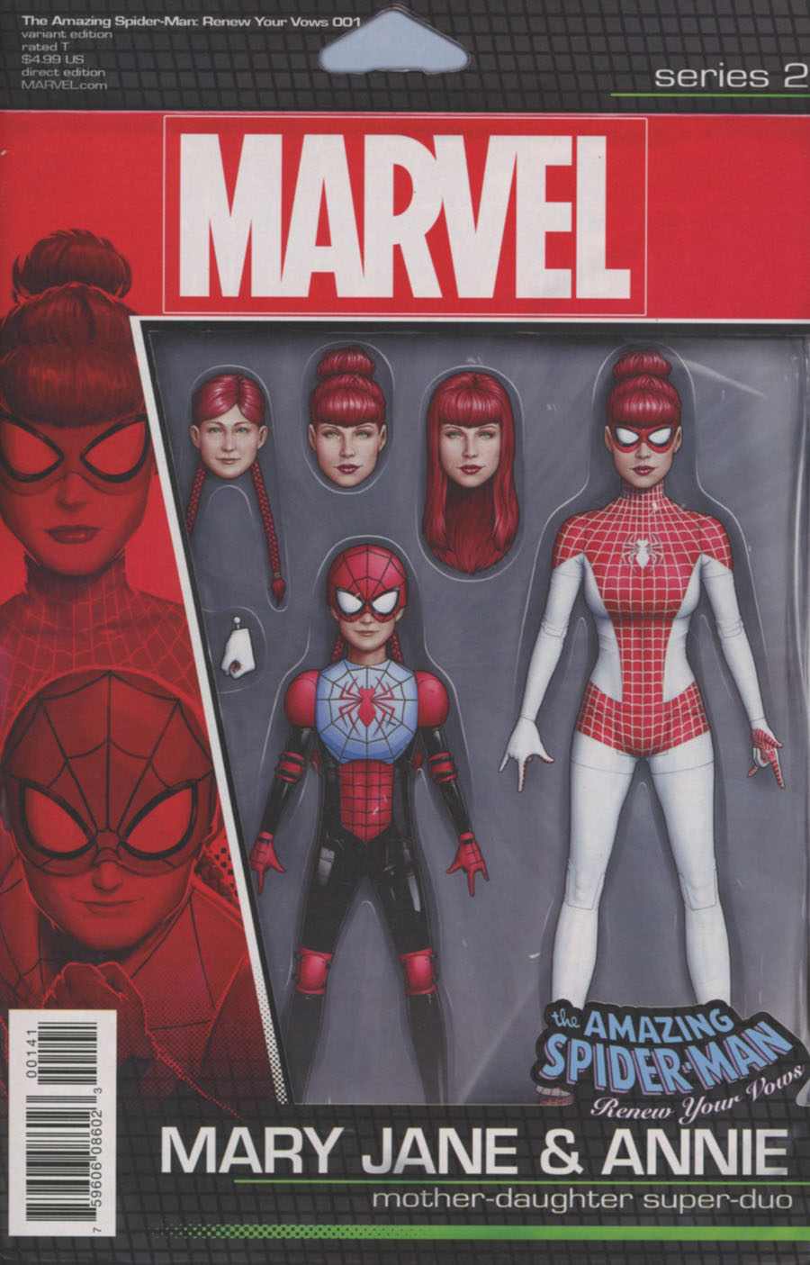 Amazing Spider-Man Renew Your Vows Vol 2 #1 Cover C Variant John Tyler Christopher Mary Jane & Annie Action Figure Cover (Marvel Now Tie-In)