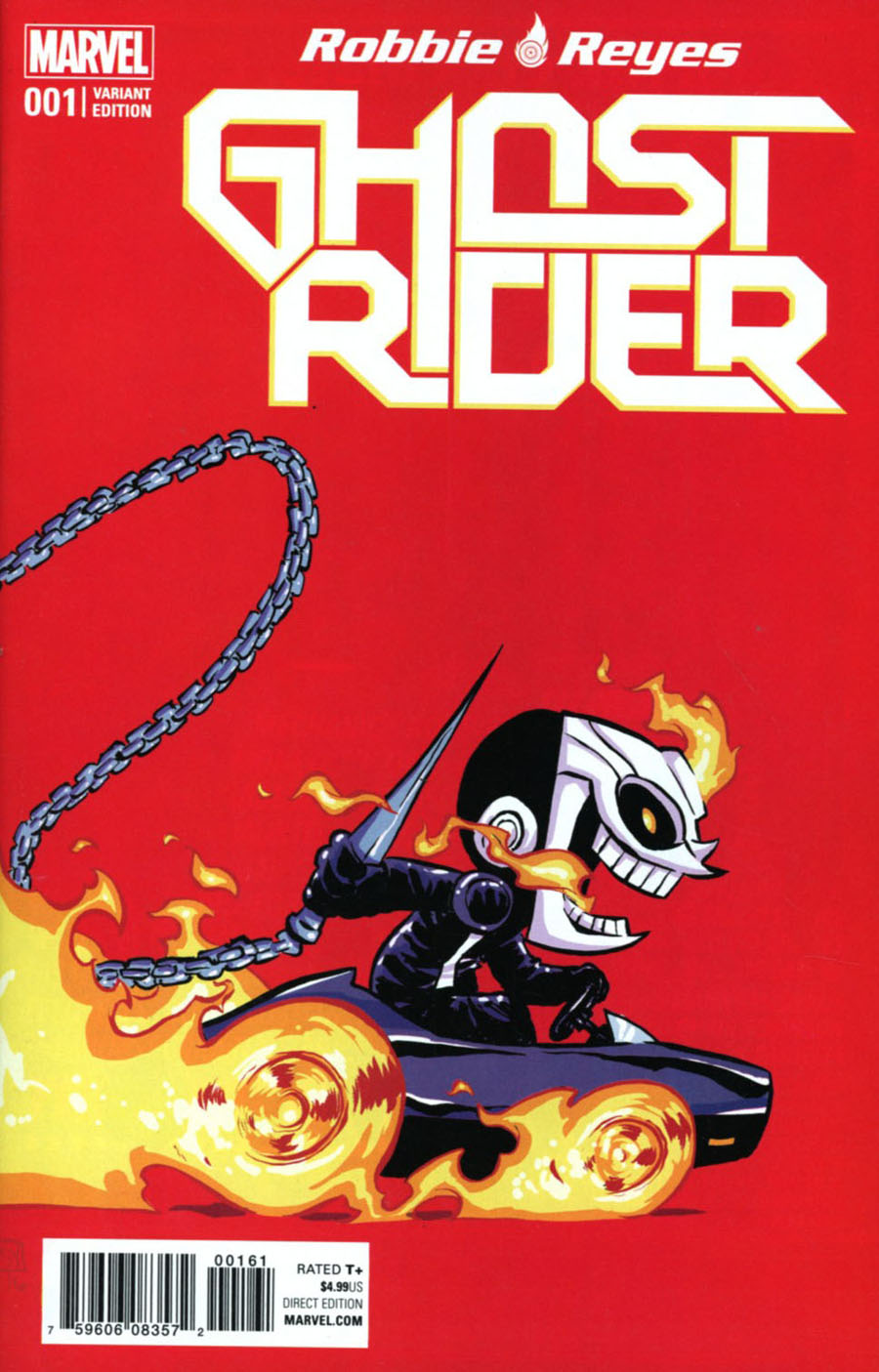 Ghost Rider Vol 7 #1 Cover E Variant Skottie Young Baby Cover (Marvel Now Tie-In)