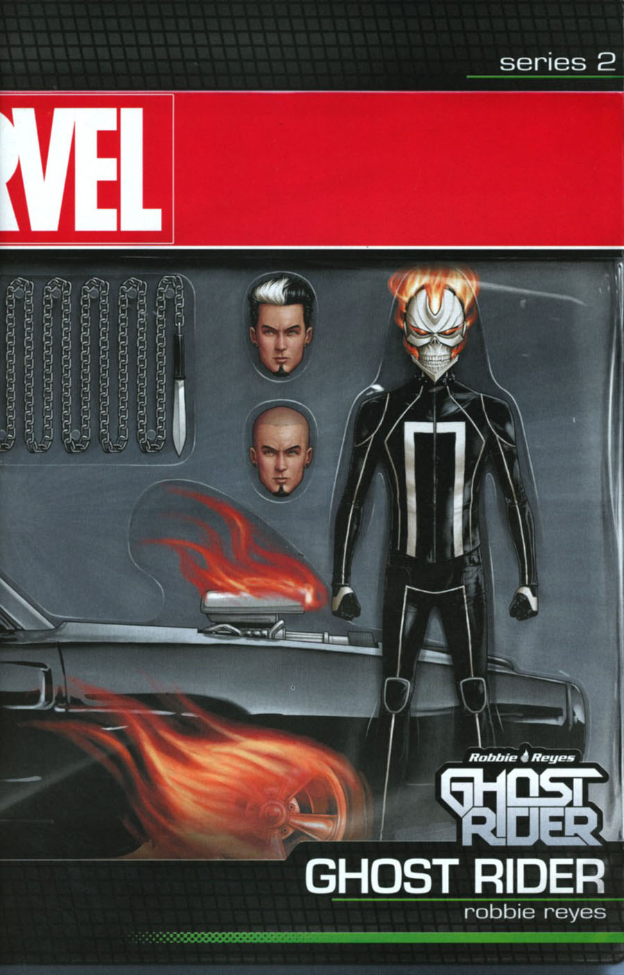 Ghost Rider Vol 7 #1 Cover C Variant John Tyler Christopher Ghost Rider With Car Action Figure Cover (Marvel Now Tie-In)